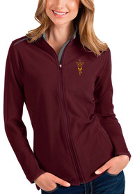 Arizona State Sun Devils Womens Antigua Glacier Light Weight Jacket - Maroon