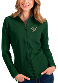 South Florida Bulls Womens Antigua Glacier Light Weight Jacket - Green