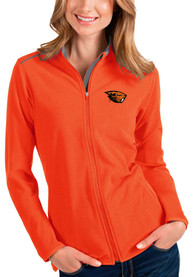Oregon State Beavers Womens Antigua Glacier Light Weight Jacket - Orange