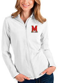 Maryland Terrapins Womens Antigua Glacier Light Weight Jacket - White