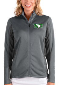 North Dakota Fighting Hawks Womens Antigua Passage Medium Weight Jacket - Grey