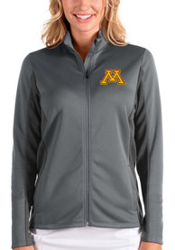 Minnesota Golden Gophers Womens Antigua Passage Medium Weight Jacket - Grey