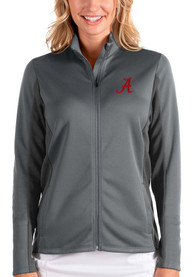 Alabama Crimson Tide Womens Antigua Passage Medium Weight Jacket - Grey