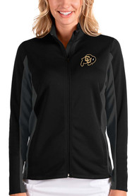 Colorado Buffaloes Womens Antigua Passage Medium Weight Jacket - Black