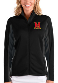 Maryland Terrapins Womens Antigua Passage Medium Weight Jacket - Black