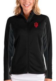 Indiana Hoosiers Womens Antigua Passage Medium Weight Jacket - Black