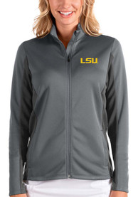 LSU Tigers Womens Antigua Passage Medium Weight Jacket - Grey