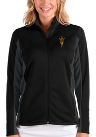 Arizona State Sun Devils Womens Antigua Passage Medium Weight Jacket - Black