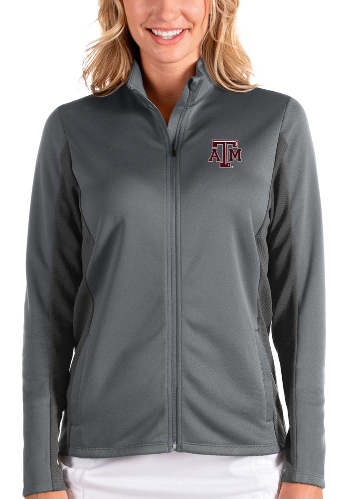 Antigua Texas A&M Aggies Womens Grey Passage Medium Weight Jacket - Image 1