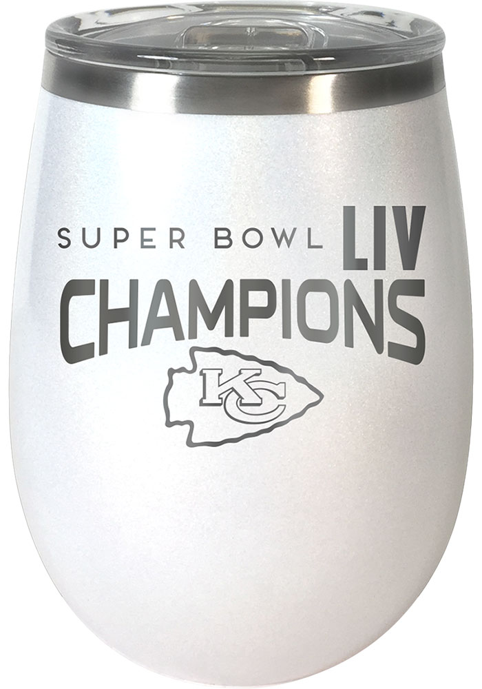 Kansas City Chiefs Super Bowl LIV Champions 10oz Wine Stainless Steel Tumbler - White - Image 1