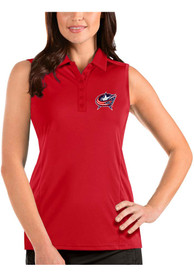 Columbus Blue Jackets Womens Antigua Sleeveless Tribute Tank Top - Red