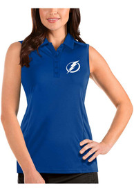 Tampa Bay Lightning Womens Antigua Sleeveless Tribute Tank Top - Blue