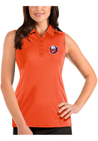 New York Islanders Womens Antigua Sleeveless Tribute Tank Top - Orange