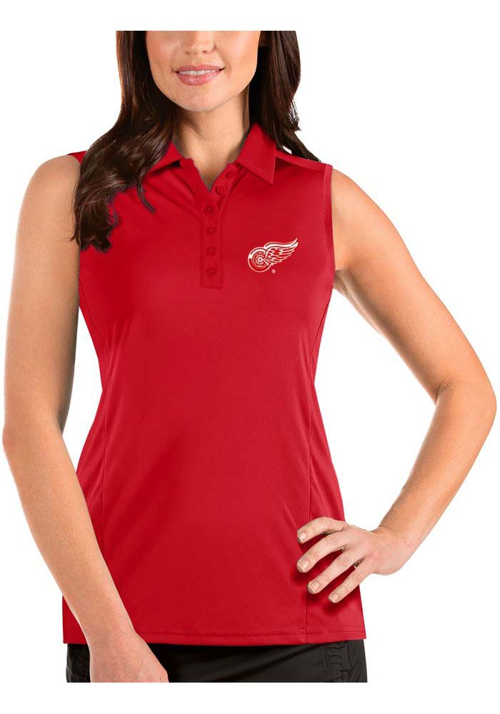 Antigua Detroit Red Wings Womens Red Sleeveless Tribute Tank Top - Image 1