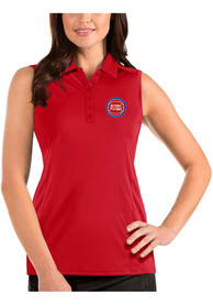 Detroit Pistons Womens Antigua Sleeveless Tribute Tank Top - Red