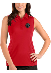 Toronto Raptors Womens Antigua Sleeveless Tribute Tank Top - Red