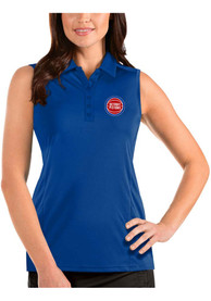 Detroit Pistons Womens Antigua Sleeveless Tribute Tank Top - Blue