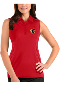 Calgary Flames Womens Antigua Sleeveless Tribute Tank Top - Red