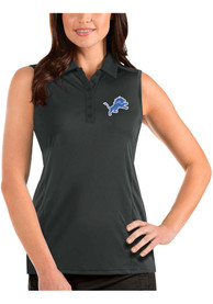 Detroit Lions Womens Antigua Sleeveless Tribute Tank Top - Grey