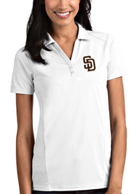 San Diego Padres Womens Antigua Tribute Polo Shirt - White