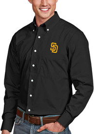 San Diego Padres Antigua Dynasty Dress Shirt - Black