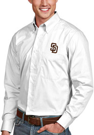 San Diego Padres Antigua Dynasty Dress Shirt - White