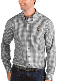 San Diego Padres Antigua Structure Dress Shirt - Black