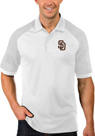 San Diego Padres Antigua Engage Polo Shirt - White