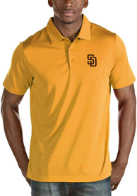 San Diego Padres Antigua Quest Polo Shirt - Gold