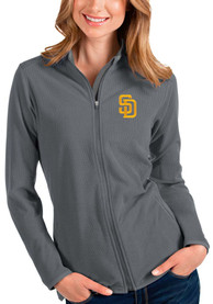 San Diego Padres Womens Antigua Glacier Light Weight Jacket - Grey
