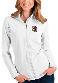 San Diego Padres Womens Antigua Glacier Light Weight Jacket - White