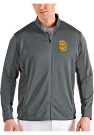 San Diego Padres Antigua Passage Medium Weight Jacket - Grey