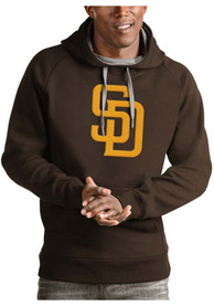 San Diego Padres Antigua Victory Hooded Sweatshirt - Brown