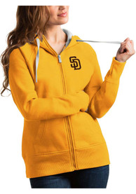 San Diego Padres Womens Antigua Victory Full Zip Jacket - Gold