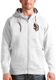 San Diego Padres Antigua Victory Full Zip Jacket - White