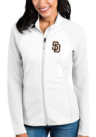 San Diego Padres Womens Antigua Sonar Light Weight Jacket - White