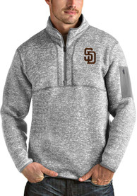 San Diego Padres Antigua Fortune 1/4 Zip Fashion - Grey
