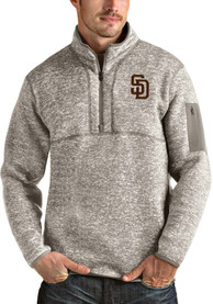 San Diego Padres Antigua Fortune 1/4 Zip Fashion - Oatmeal