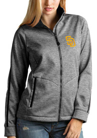 San Diego Padres Womens Antigua Golf Light Weight Jacket - Black