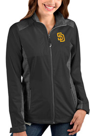 San Diego Padres Womens Antigua Revolve Light Weight Jacket - Grey
