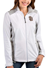San Diego Padres Womens Antigua Revolve Light Weight Jacket - White