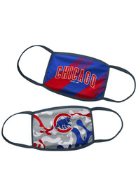 Chicago Cubs Kids 2 Pack Youth Fan Mask - Blue