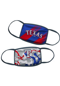 Texas Rangers Kids 2pk Fan Mask - Blue