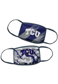 TCU Horned Frogs Kids 2 Pack Youth Fan Mask - Purple