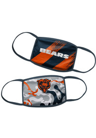 Chicago Bears Kids 2 Pack Youth Fan Mask - Blue