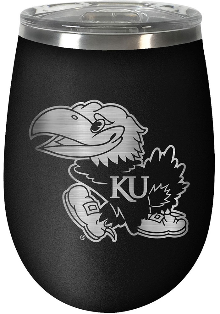 Kansas Jayhawks 10oz Stealth Stemless Wine Stainless Steel Tumbler - Black