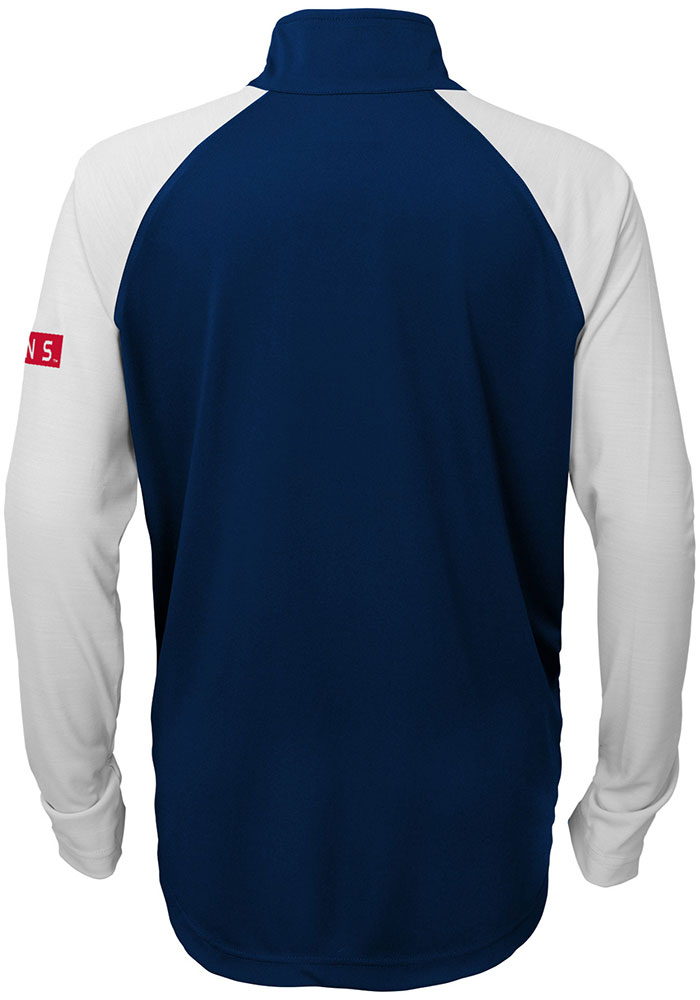 Cleveland Indians Youth Navy Blue Destined Long Sleeve Quarter Zip Shirt - Image 2