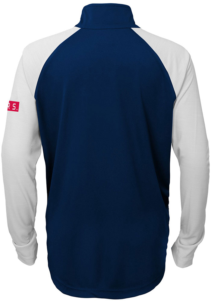 Texas Rangers Youth Navy Blue Destined Long Sleeve Quarter Zip Shirt - Image 2