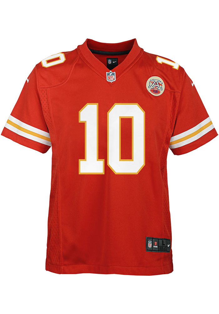 Tyreek Hill Kansas City Chiefs Youth Red Nike Home Football Jersey - Image 2
