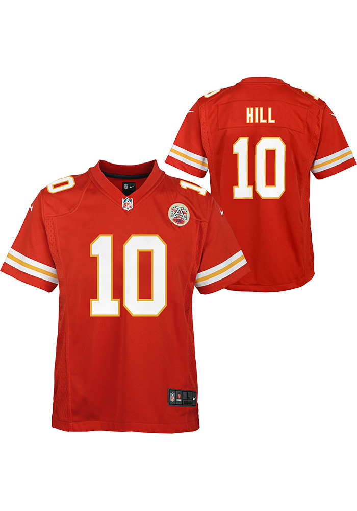 Tyreek Hill Kansas City Chiefs Youth Red Nike Home Football Jersey - Image 3